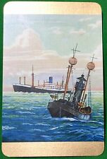 Playing Cards 1 Single Swap Card - Old Vintage BLUE FUNNEL LINE Shipping Ship 2