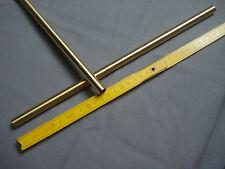 1 tubulure tube lisse en laiton massif longueur 33 cm diamètre 11 - 12 mm