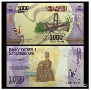 Madagascar Banknote 1000 Ariary 2017 (UNC) 全新 马达加斯 1000阿利亚里 2017年