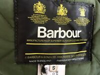 Mens Vintage Barbour Green Quilts Padded Jacket Coat Large S made English