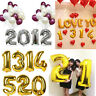 """16"""" Gold/Silver Helium Foil Balloon Birthday Party 0-9 Number Decor"""