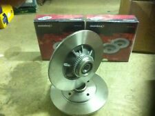 RENAULT CLIO SPORT 172 REAR MINTEX BRAKE DISCS ABS RING & BEARING FITTED NEW