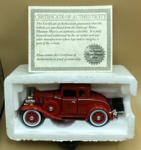 1932 Chevy Roadster Fire Chief Car die cast car National Motor Museum New