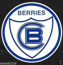"""""""THE BERRIES OF CANTERBURY BANKSTOWN"""" Vinyl Sticker Decal The Bulldogs nrl"""