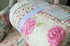 Quilted Sherpa English Garden Throw Blanket