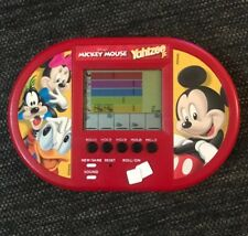 MICKEY MOUSE Yahtzee Jr Electronic Handheld Travel Game Pocket 2000 WORKS