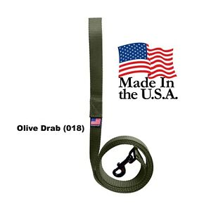 Dog Leash Lead Long Obedience Recall Training Tracker OLIVE DRAB Made in the USA