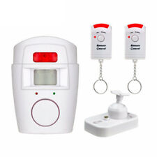 105dB Motion Sensor Detector Alarm Wireless IR Infrared Remote Home Security