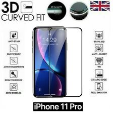 """For iPhone 11 Pro (5.8"""") 3D Curved Full Cover Screen Protector Tempered Glass"""