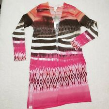 Chicos Tribal Chic Strom Cardigan Sweater LS Pattern. Multicolor. Womens Size O