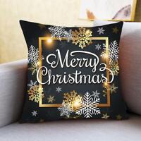 Kissenbezug Frohe Weihnachten Dekoration für Zuhause Ornamente N2D6