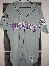 Colorado Rockies Game Used 1998 Baseball Jersey - Kurt Abbott, All-Star Patch