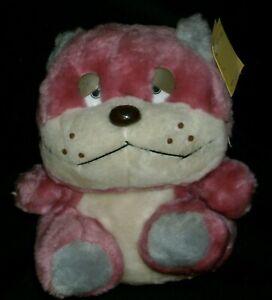 "11"" VINTAGE DAN DEE PINK WHITE BABY TEDDY BEAR STUFFED ANIMAL PLUSH TOY W/ TAG"