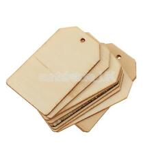 10 Unfinished Wooden MDF Blanks Xmas Hangers Craft Label Christmas Gift Tags