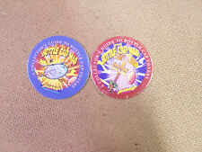 THE BOTTLE CAP MAP MELANIE CHING SIGNED POGS/MILKCAPS SET/ LOT OF  (2) AWESOME