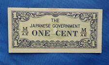 1942 gobierno de Japón Billete De 1 Centavos. Segunda Guerra Mundial Edición
