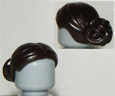 LEGO STAR WARS PADME AMIDALA MINIFIGURE DARK BROWN HAIR PART X1 TOP-KNOT PIECE