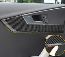 Fits Audi A4 B9 2017-2019 Carbon Fiber Inner Door Handle Bowl Panel Cover Trim