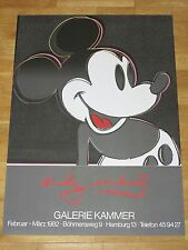 ANDY WARHOL POSTER - MICKEY MOUSE 1982 GERMAN EXHIBITION in MINT