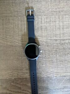 Fossil Gen 4 Venture HR Smartwatch 40mm Stainless Steel with black Silicone Band