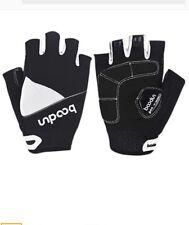 BOODUN Unisex Cycling Gloves Size Medium  Black & White New