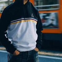 adidas X Palace Skateboards Stripe Hoody Sweatshirt black & white pullover Gr S