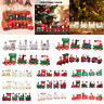 Kids Xmas Wooden Christmas Train Santa Claus Festival Ornament Home Decor Gift