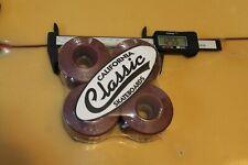 Wizards 64mm Sims Bones Brown 70's / 80's W1 Vintage Set 4 Skateboard Wheels