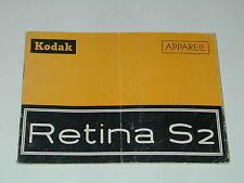 NOTICE KODAK RETINA S 2 en français