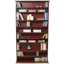Large CD DVD Media Storage Shelves - Mahogany MS0764M