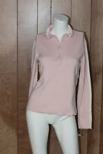 WOMEN'S POLO JEANS CO. RALPH LAUREN 1/2 ZIP RIBBED SHIRT-SIZE: LARGE