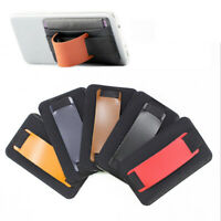 1pcs Colorful Cell Phone Card Holder Case Pouch Adhesive Sticker Back Cover