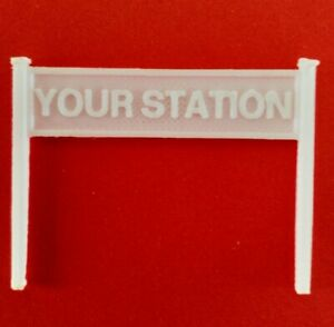 4mm scale (OO gauge) model railway station sign X 2 - limited to 10 characters