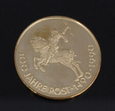 Very rare  500 Jahre Post 1490-1990 Thurn und Taxis 1534 Proof Gold medal