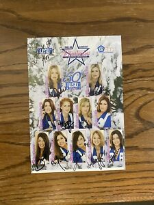 NFL Dallas Cowboys Cheerleaders 50th USO Tour Autographed Poster