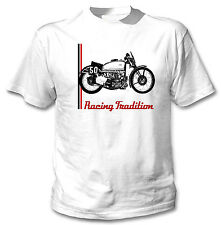 AJS SUPERCHARGED V-FOUR 1939 - NEW WHITE COTTON TSHIRT ALL SIZES IN STOCK