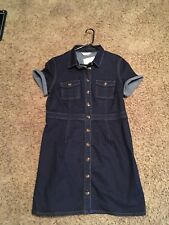 NWT DOROTHY PERKINS DARK JEAN DRESS SZ 10