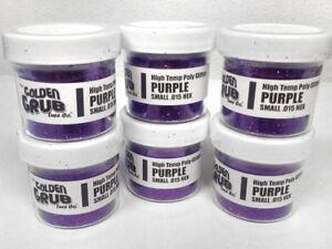 NEW 2 OZ. Jar PURPLE High Temp Glitter .015 Hex Fishing Lure Making plastisol