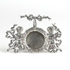 Sterling silver pocket watch holder picture frame Shiebler antique Art Nouveau