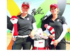 Brooke Henderson LPGA star signed autographed 8x10 golf photo Brittany sister