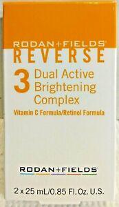 Rodan Fields Reverse Dual Active Brightening Complex Vitamin C Retinol Formulas