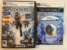 Shadowrun  - 2007 - Windows PC - Complete - LIVE - DVD-ROM - Microsoft