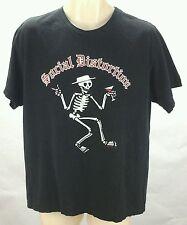 SOCIAL DISTORTION  Black Skeleton T-shirt SIZE ADULT Large L RARE