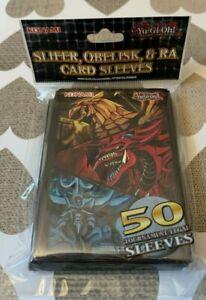 1 x Pack Of 50 Yu-Gi-Oh Slifer/Obelisk/Ra Card Sleeves New Sealed Egyptian Gods