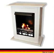 Ethanol Firegel Fireplace Cheminee Madrid Deluxe Royal White + safety glass