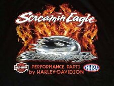 Harley Davidson Screamin Eagle NHRA black  Shirt Nwt Men's XL
