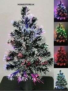 45cm FIBRE OPTIC CHRISTMAS XMAS TREE COLOUR CHANGING LIGHT BATTERY OPERATED 032