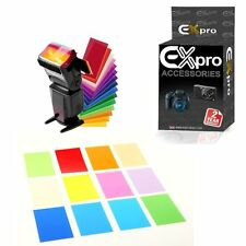 Ex-Pro 12 Color Balance effect Gel filter flash Diffuser Kit for Speedlite Canon