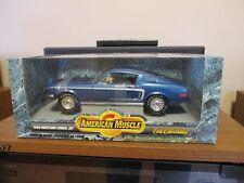 1:18 DieCast Ertl 1968 FORD MUSTANG GT COBRA JET 428 BLUE  #7295 MINT IN BOX