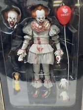 """NEW NECA IT 7"""" Ultimate Pennywise Action Figure Bloody I Heart Derry ?"""